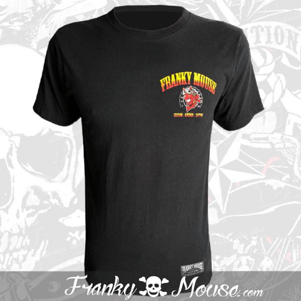 T-Shirt Franky Mouse Black American Custom