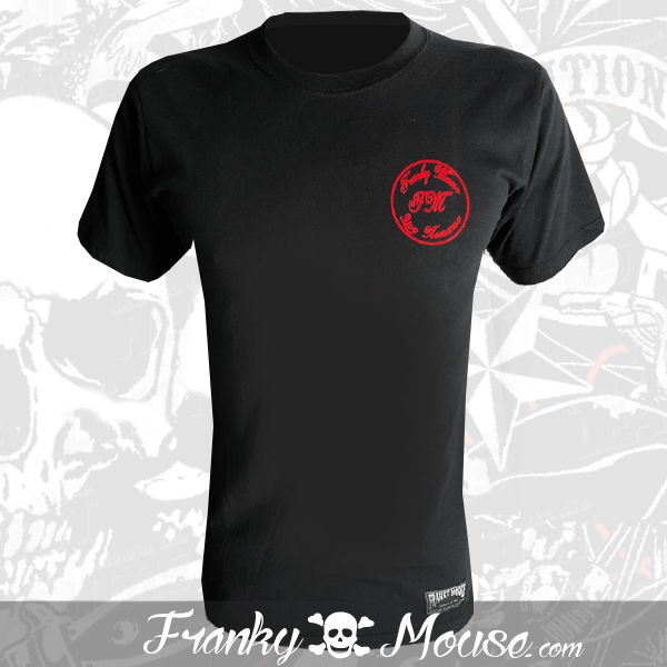 T-Shirt Franky Mouse Black Ride Motor Cycle