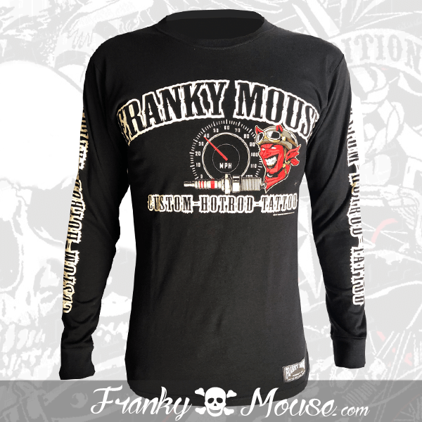Long Sleeve T-shirt Franky Mouse Custom Hotrod