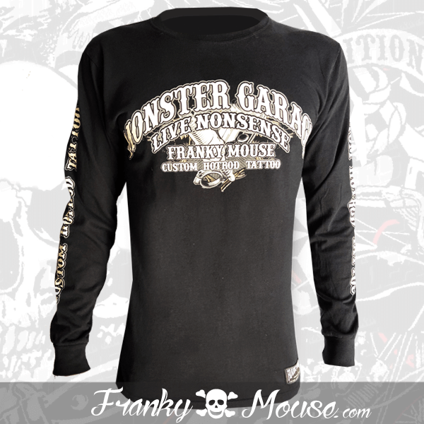 Long Sleeve T-shirt Franky Mouse Monster Tattoo