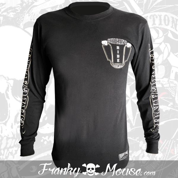 Long Sleeve T-shirt Franky Mouse Chicano Riders