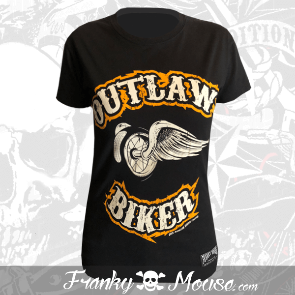 T-shirt For Women Franky Mouse Outlaw Bikers
