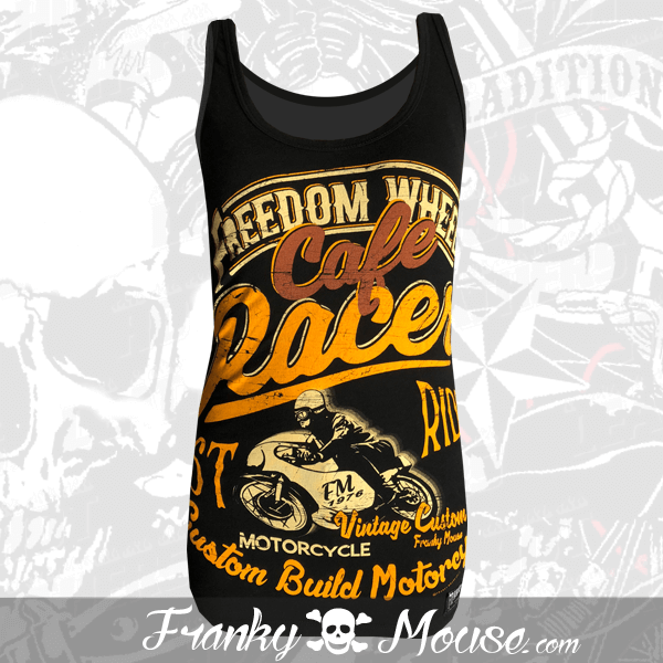 Tank Top For Women Franky Mouse Cafe Racer