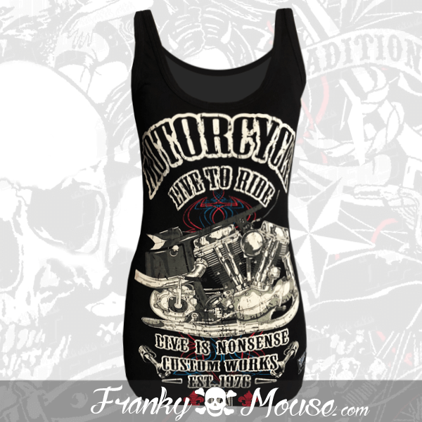 Tank Top For Women Franky Mouse Life To Ride