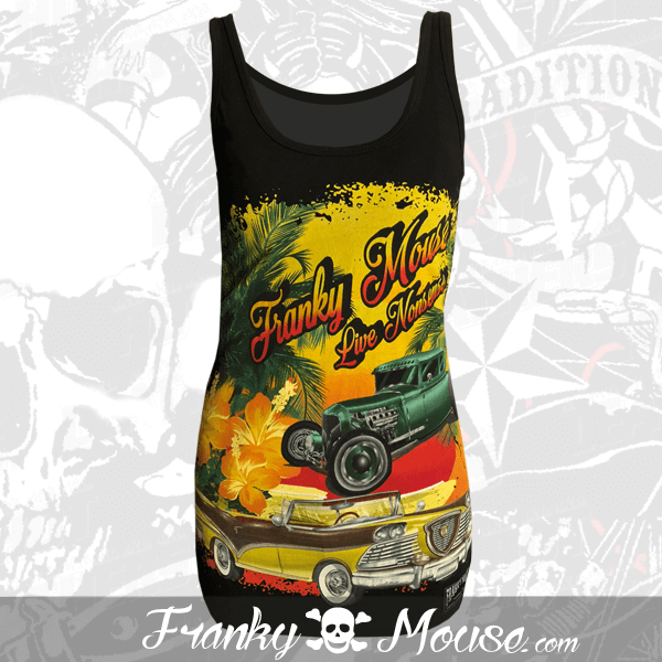 Tank Top For Women Franky Mouse Hotrod Cubana