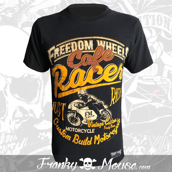 T-Shirt Franky Mouse Freedom Wheels Cafe