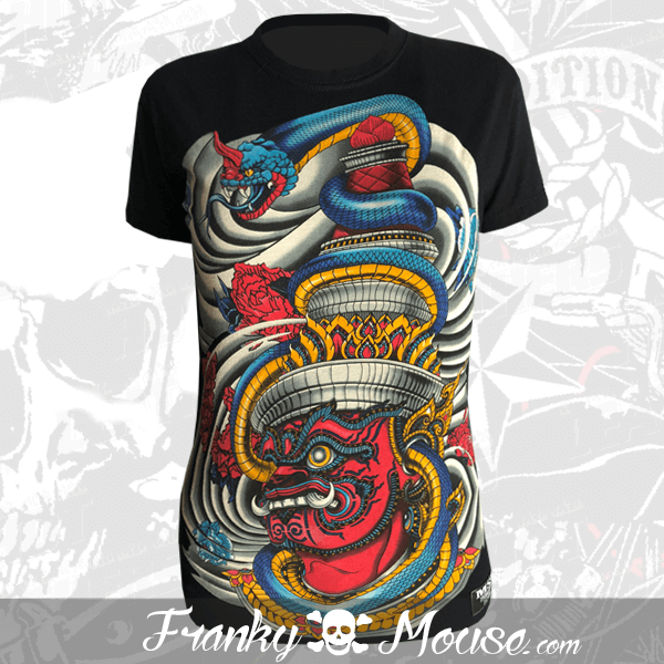 T-shirt For Women Franky Mouse Dragon Devils
