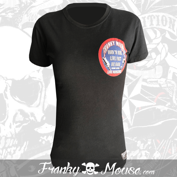 T-shirt For Women Franky Mouse Born To Ride