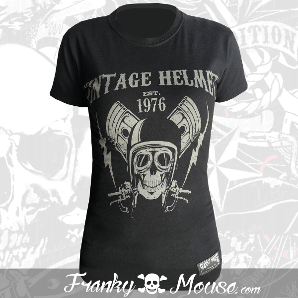 T-shirt For Women Franky Mouse Vintage Helmet