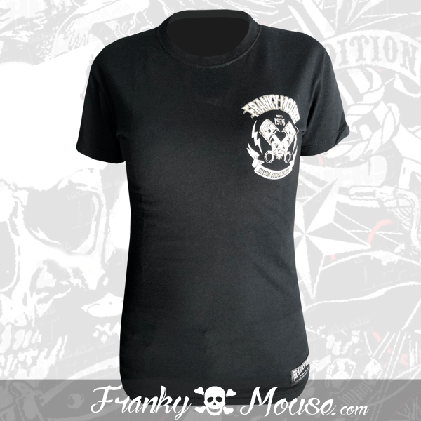 T-shirt For Women Franky Mouse Bron To Ride Fast