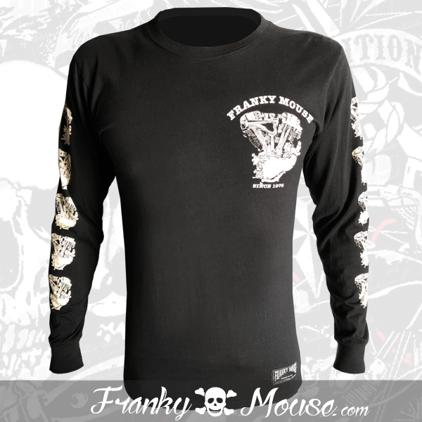 Long Sleeve T-shirt Franky Mouse Hot Rod Live Fast